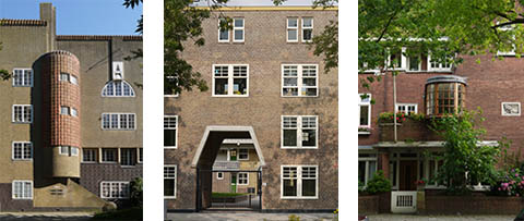 Three facades in the Netherlands: De Klerk, Brinkman and Berlage