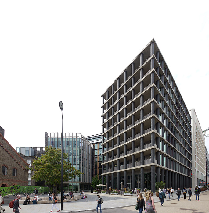 David Chipperfield. One Pancras Square. London 2008-2013