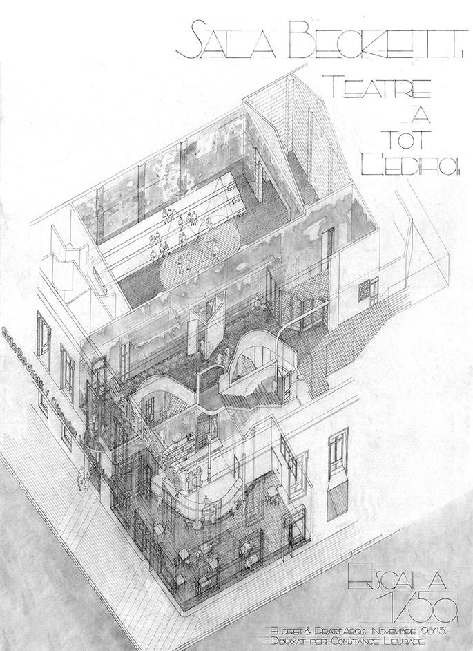 Complex Buildings: Linkers. <br>Flores & Prats. Sala Beckett<br>