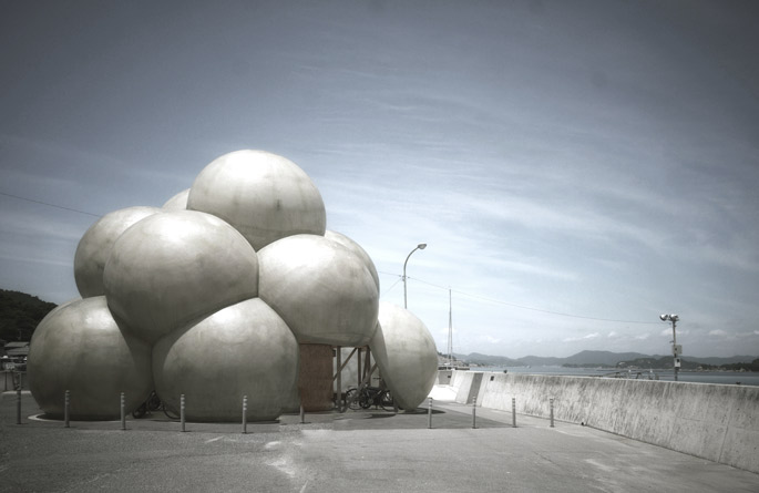 a+t visits  Naoshima Cycle Shelter