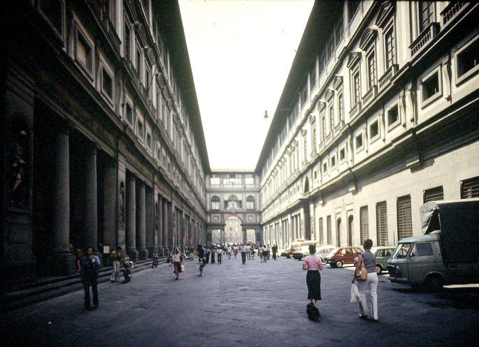 Grand Tour 1977. Uffizi Gallery