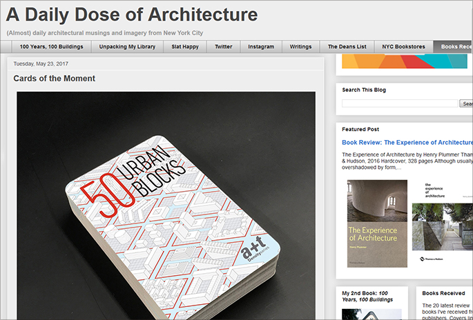 'Cards of the Moment'. Archidose reviews 50 Urban Blocks