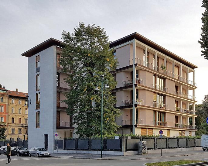 A t ignazio gardella casa al parco casa tognella for Condominio giardino c