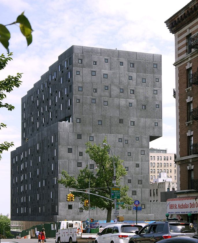 Harlem New York Apartments: David Adjaye. Sugar Hill Housing. Harlem, New York
