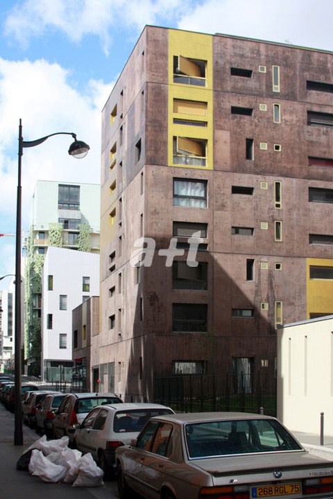 a+t - Beckmann-N\\\'Thépé. Social Housing Block Zac Masséna. Paris