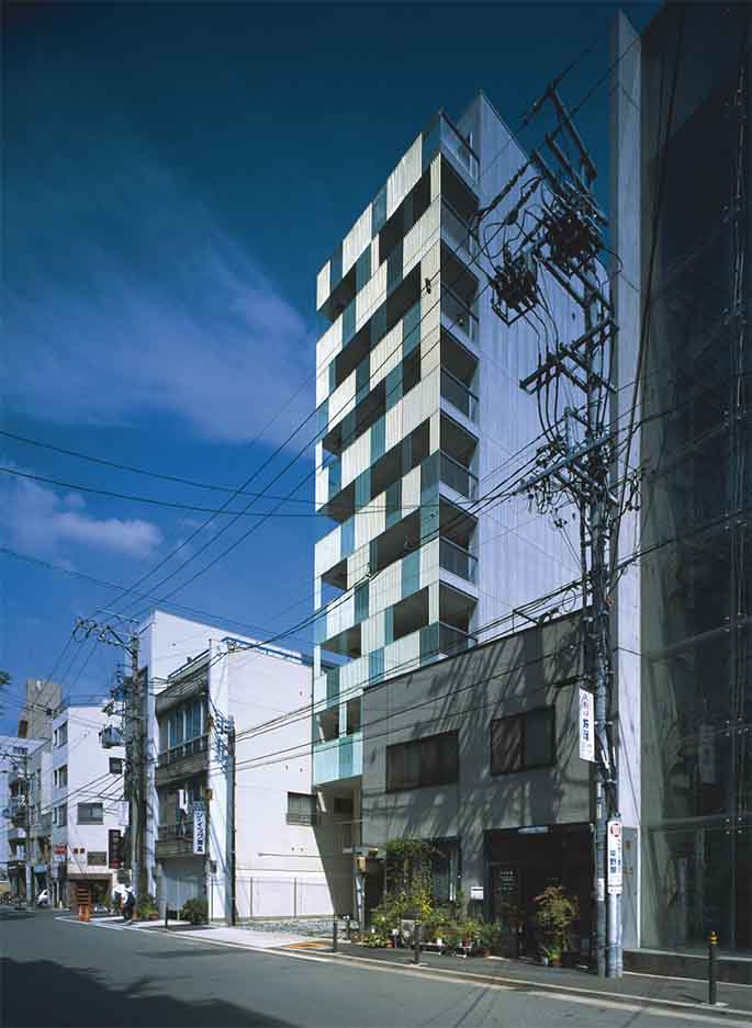 Klein Dytham. 17 dwellings in Nagoya. Japan